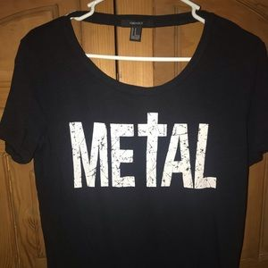 Forever 21 metal tee with back cut out size s